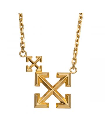 OFF-WHITE c/o Virgil Abloh WOMENS DOUBLE ARROW NECKLACE / 7600 : GOLD NO COLOR
