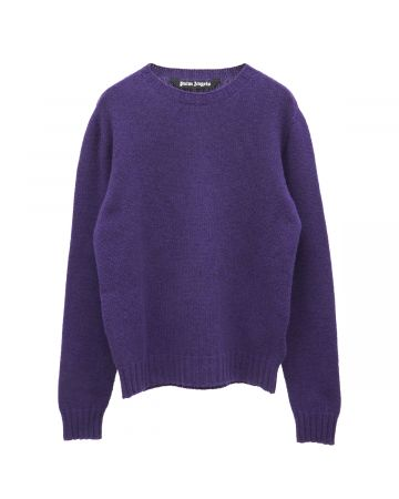 Palm Angels REC LOGO SWEATER / 3701 : PURPLE WHITE