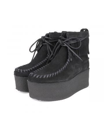 Palm Angels PLATFORM WALLABEE / 1010 : BLACK BLACK