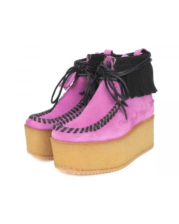 Palm Angels PLATFORM WALLABEE / 3610 : LILAC BLACK