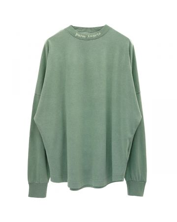 Palm Angels GD CLASSIC LOGO OVER TEE LS / 5757 : FOREST GREEN