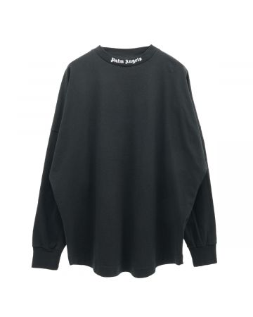 Palm Angels CLASSIC LOGO OVER TEE L/S / 1001 : BLACK WHITE