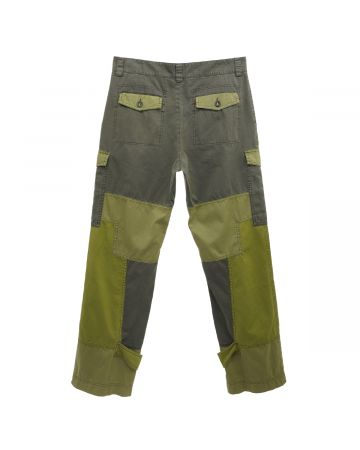 Palm Angels PATCHWORK MILITARY CARGO PANTS / 5632 : MILITARY FUCHSIA