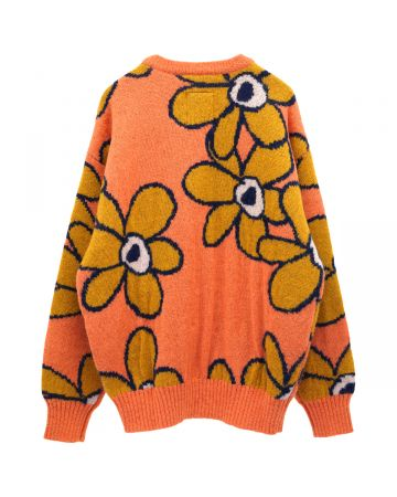 P.A.M. G.L. DR. OCTAGON KNITTED MOHAIR JUMPER / PERSIMMON