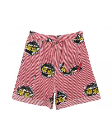 PHINGERIN PAJALOPHA SHORTS GAUZE ISLE VIEW / A : RED