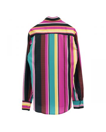 PHLEMUNS LS BUTTON UP WITH POCKET / PINK STRIPES