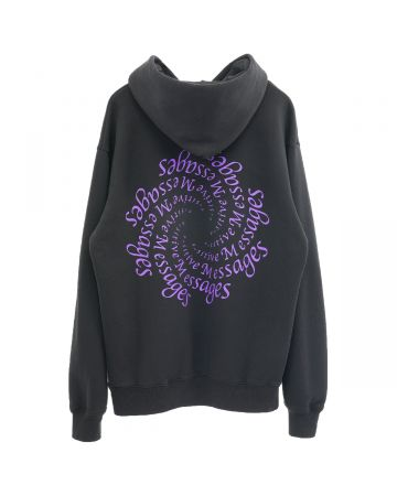 A Positive Messages AMPLIFICATION HOODED SWEAT / BLACK