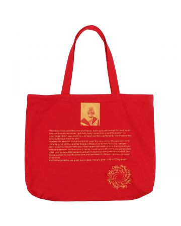 A Positive Messages LOVE IS GREAT TOTE / LADY BUG RED