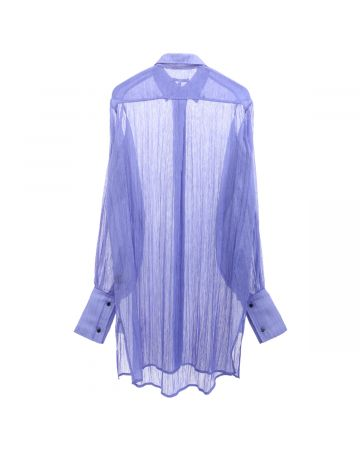 PRISCAVera SHEER BUTTON DOWN DRESS / IRIS
