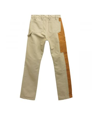 REESE COOPER TWO-TONE DUCK CANVAS CONSTRUCTION PANTS / KHAKI
