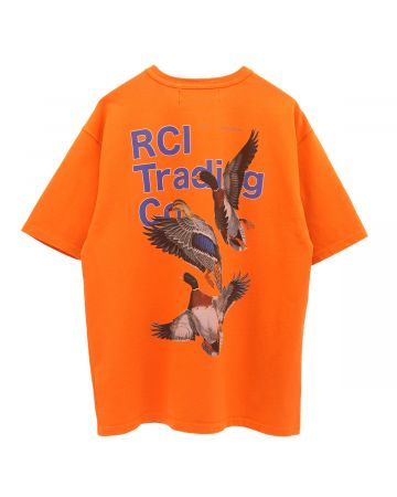 REESE COOPER DUCK PRINT TEE SHIRT / ORANGE