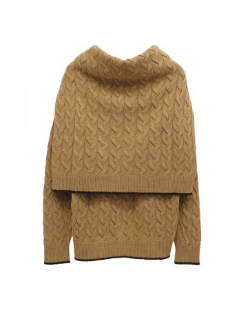 rokh SAILOR CABLE DOUBLE KNIT / 856 : TOFFEE NUT LATTE