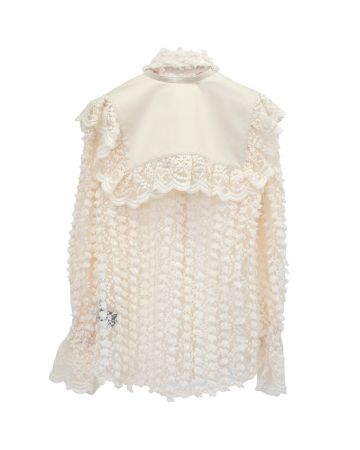 rokh EMBROIDERY LACE BLOUSE / 06 : IVORY