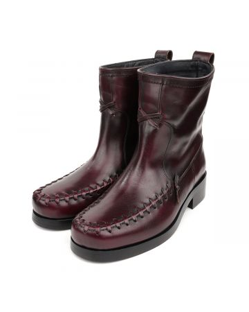 Stefan Cooke ANKLE BOOT / BURGUNDY LEATHER
