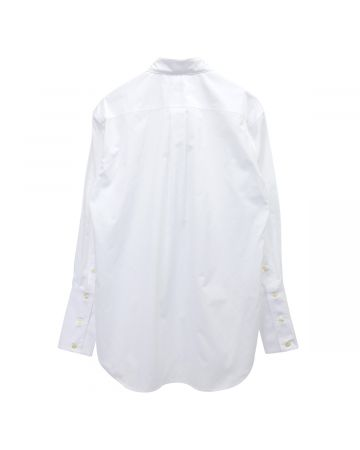 Stefan Cooke COTTON SHIRT WITH INFINITY COLLAR DETAIL / WHITE