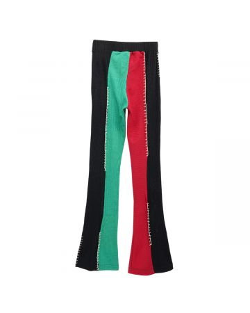 SHOOP NEW GIRONA UPCYCLED LOUNGE PANTS / GREEN-RED