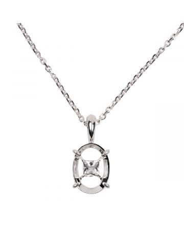 SWEETLIMEJUICE SILVER VOLLEY NECKLACE / SILVER-CLEAR STONE