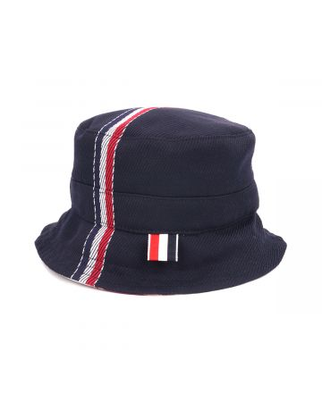 [お問い合わせ商品] THOM BROWNE. BUCKET HAT W/ LINING IN FUNMIX IN SCHOOL UNIFORM CAV TWILL / 415