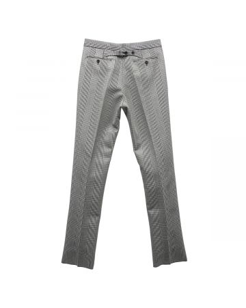 [お問い合わせ商品] THOM BROWNE. CLASSIC BACKSTRAP TROUSE IN POW CAVALRY TWILL / 980 : BLK-WHT