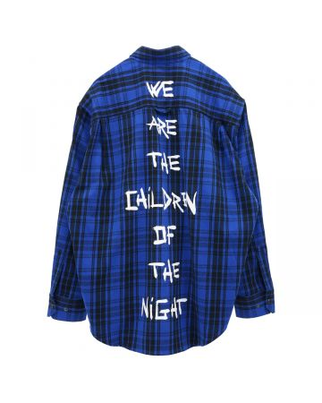 VETEMENTS ANARCHY/CHILDREN OF THE NIGHT FLANNEL SHIRT / BLUE CHECK