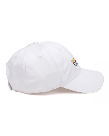 VETEMENTS THINK DIFFERENTLY LOGO CAP / WHITE