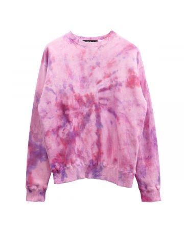 VENOM TWO FACE INSIDE TWO FACE CREW  SWEATSHIRTS / PINK TIE-DYE