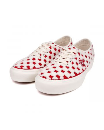 VANS UA AUTHENTIC ONE PIECE VLT LX / RACING RED-MARSHMALLOW