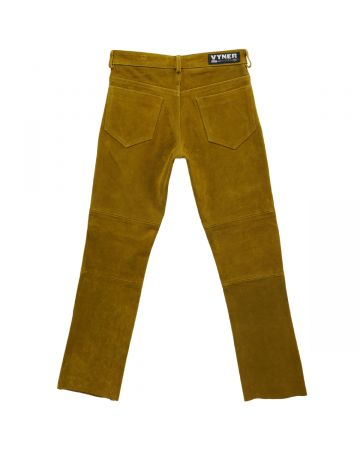 VYNER ARTICLES SUEDE SKINNY PANTS / 6010 : SAND
