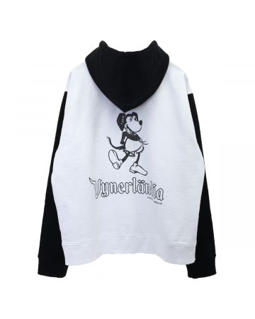 VYNER ARTICLES HOODIE WITH PRINT / 9025 : VICKEY PRINT WH-BL