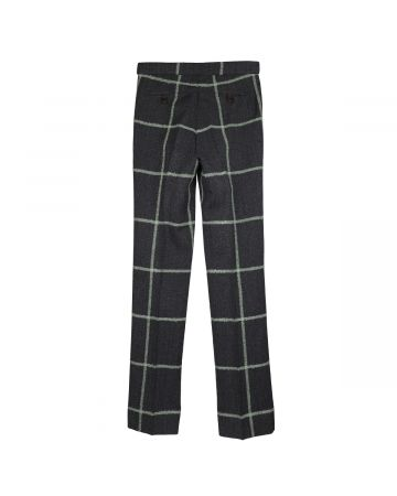 WALES BONNER JUDAH TAILORED TROUSERS / CHARCOAL-GREEN