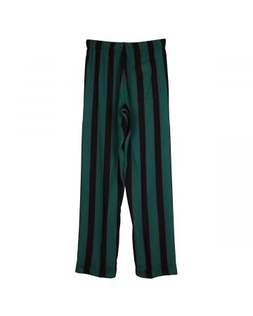 WALES BONNER ROOTS PYJAMA TROUSERS / BLACK-EMERALD-OCHRE