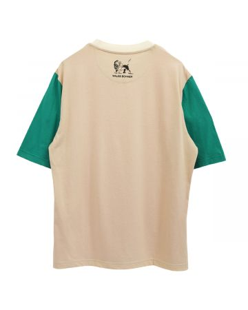 WALES BONNER JOHNSON COLOUR BLOCK T-SHIRT / 317 : RED-BEIGE-GREEN