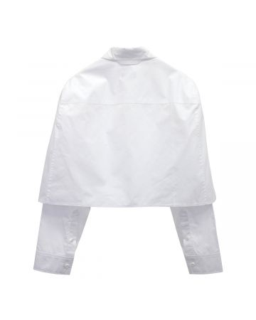 WE11DONE WOMENS SCALLOP SHIRT / WHITE