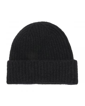 WE11DONE FELTED KNIT LONG BEANIE / BLACK