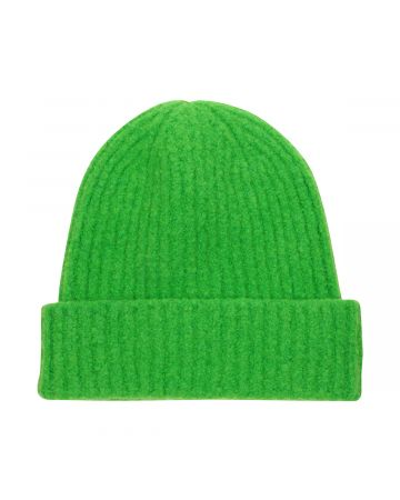 WE11DONE FELTED KNIT LONG BEANIE / GREEN