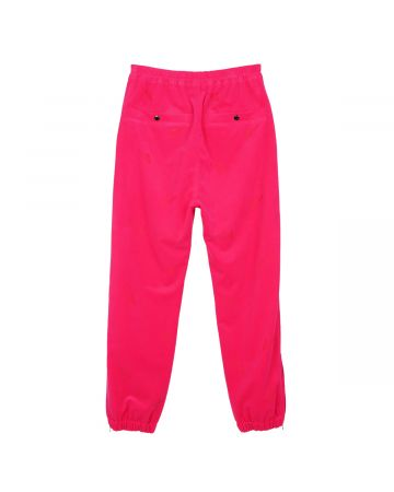 WE11DONE UNISEX LOGO TRACK PANTS / PINK