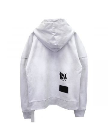 WE11DONE HORROR MOVIE HOODIE / WHITE
