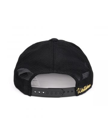 WE11DONE PATCH PRINTED UNBALANCED CAP / BLACK