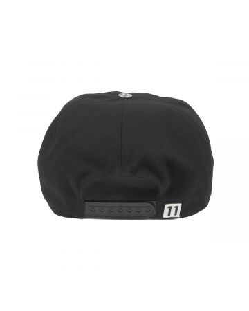 WE11DONE NEON PATCH EMBROIDERED CAP / BLACK