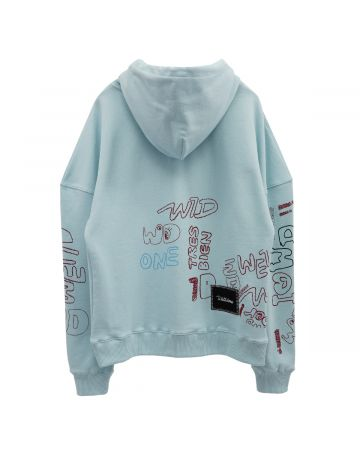 WE11DONE WE11DONE GRAFFITI VER.1 LONG SLEEVE HOODIE / MINT