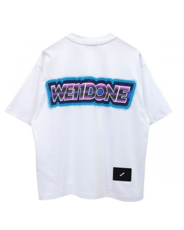 WE11DONE WE11DONE MINI LOGO PATCH T-SHIRT / WHITE