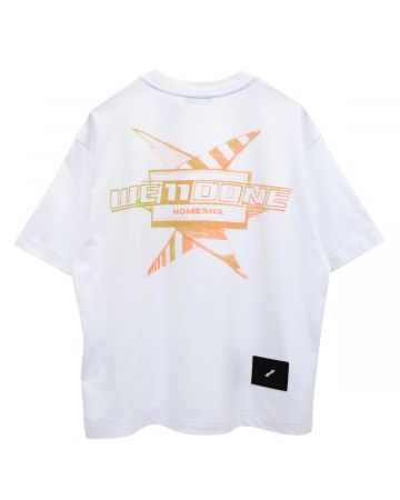 WE11DONE MULTI COLOR LOGO T-SHIRT / WHITE