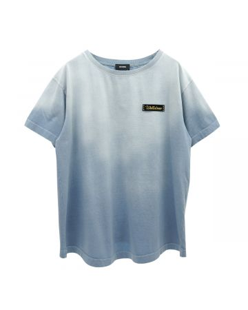 WE11DONE BUTTERFLY WASHED T-SHIRTS / SKY