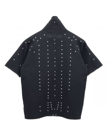 Xander Zhou SHORT SLEEVES KNITWEAR TURTLE / BLACK-WHITE