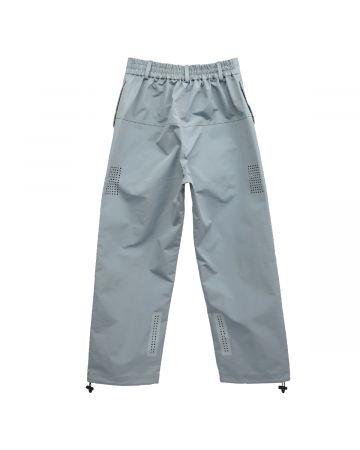 Xander Zhou TROUSERS WITH LASER CUT PATTERN / BLUE-LIGHT BLUE