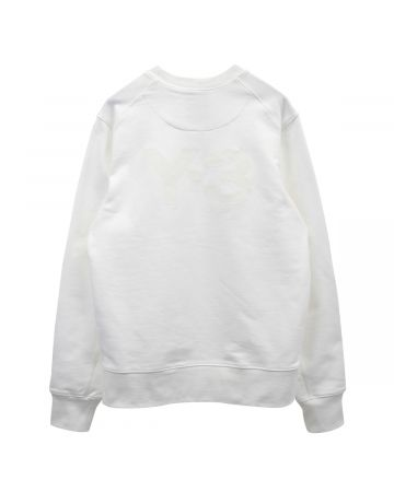 Y-3 M CLASSIC BACK LOGO CREW SWEAT / CORE WHITE