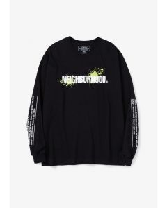 NEIGHBORHOOD REIGN/C-TEE.LS / BLACK