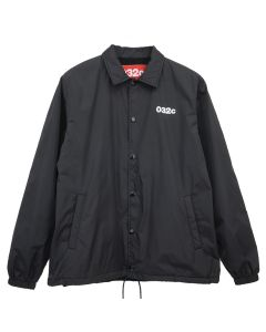 032c PATENT JACKET WITH LOGO AND EMB PATCHES / BLACK