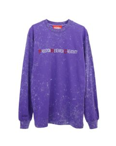 032c LONGSLEEVE WITH CHEST EMBROIDERY / PURPLE