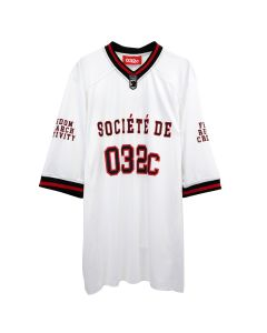 032c FOOTBALL JERSEY WITH PUFF PRINT / WHITE